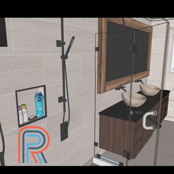 3D visualisatie badkamerrenovatie
