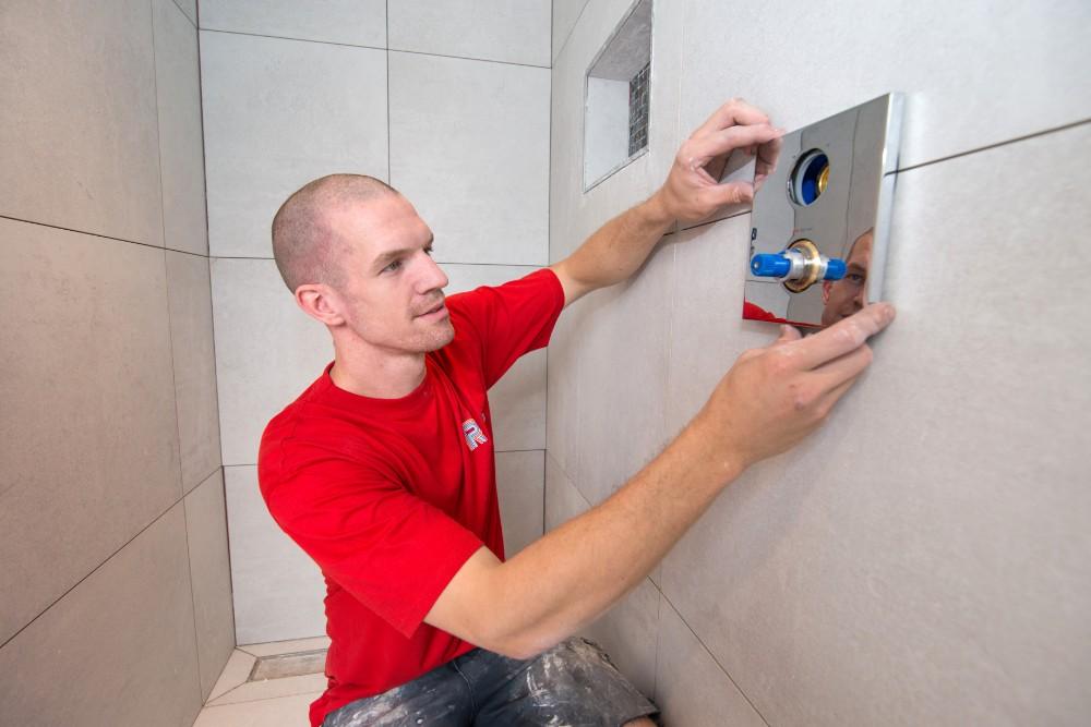 Badkamerrenovatie tijdens werkzaamheden