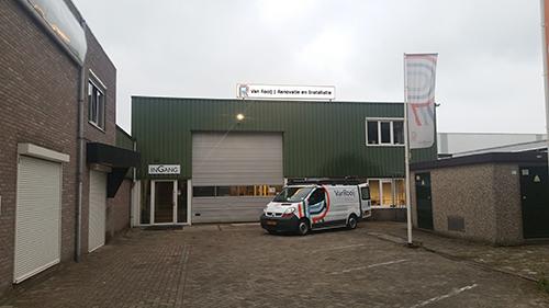 Het kantoorpand van Van Rooij Renovatie en Installatie