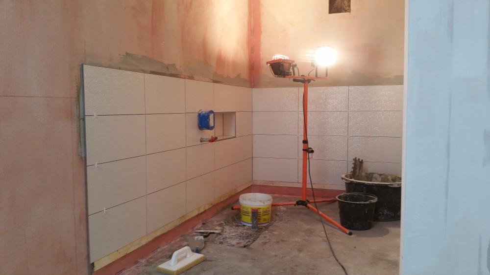 Badkamer renovatie halverwege