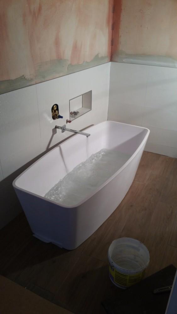 Badkamerkraan testen tijdens badkamerrenovatie